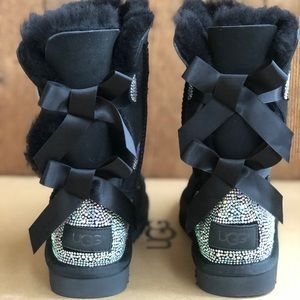 UGG Shoes - Ugg bailey bow rhinestones bling boots